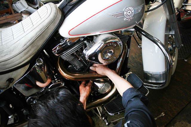 ハーレーオイル交換 Harley-Davidson カスタム