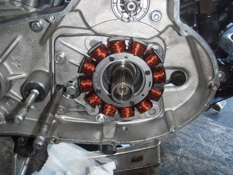 バイク修理NEWAUTOスポーツスター磁石の破損