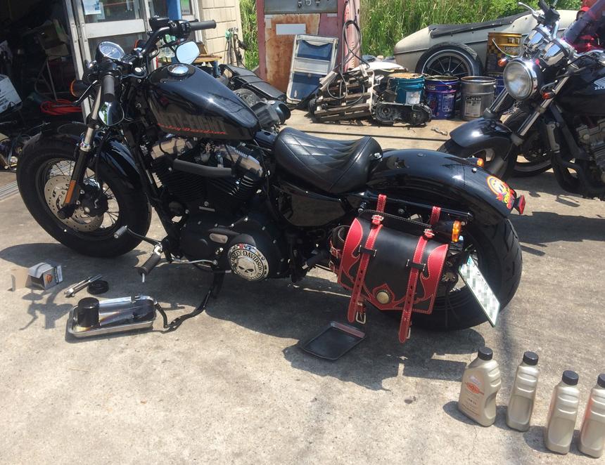 Harley-Davidson・2013XL1200Xフォーティーエイト黒